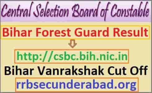 Bihar Police Forest Guard Result 2019