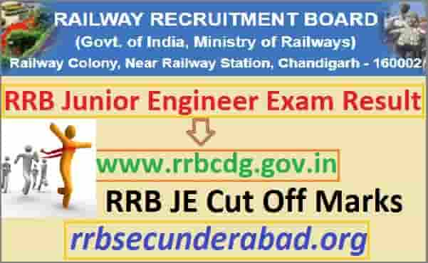 RRB Junior Engineer CBT 1 Result 2019