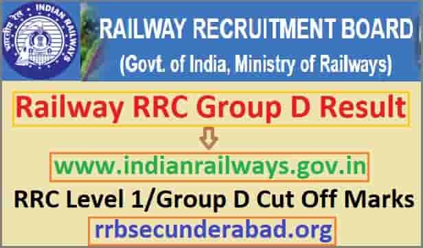RRC Group D Result 2019