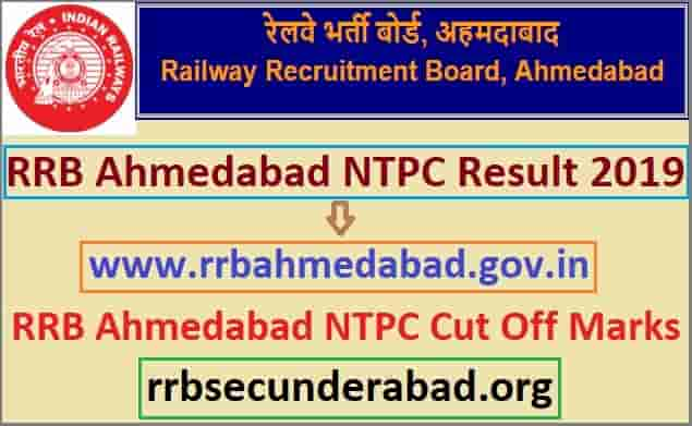 RRB Ahmedabad NTPC Result 2019
