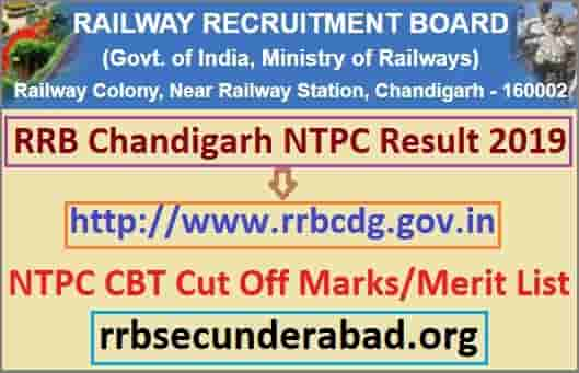 RRB Chandigarh NTPC Result 2019
