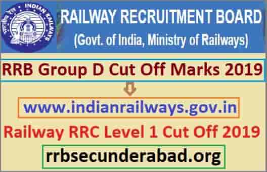 RRB Group D Cut Off Marks 2019