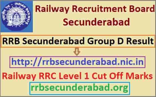 RRB Secunderabad Group D Result 2019
