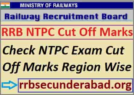 RRB NTPC Cut Off Marks 2019